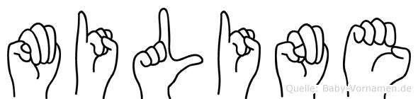 Miline in Fingersprache für Gehörlose