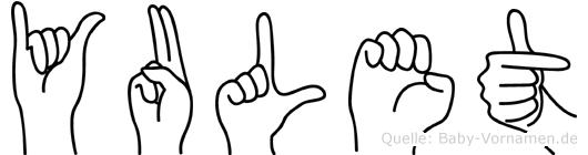 Yulet im Fingeralphabet der Deutschen Gebärdensprache