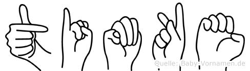 Timke im Fingeralphabet der Deutschen Gebärdensprache