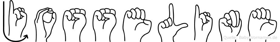 Josseline im Fingeralphabet der Deutschen Gebärdensprache