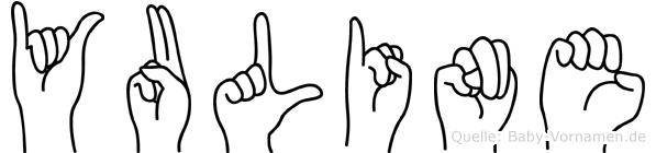 Yuline im Fingeralphabet der Deutschen Gebärdensprache