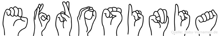 Efrosinia in Fingersprache für Gehörlose