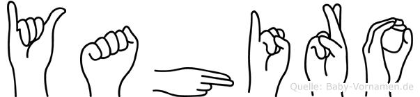 Yahiro im Fingeralphabet der Deutschen Gebärdensprache