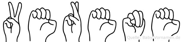 Verene in Fingersprache für Gehörlose