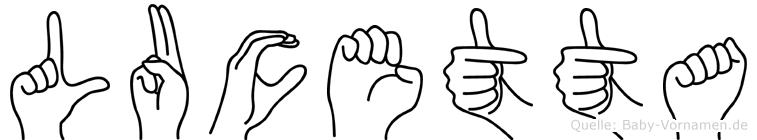Lucetta in Fingersprache für Gehörlose