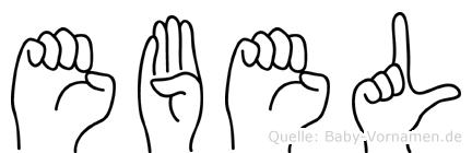 Ebel in Fingersprache für Gehörlose