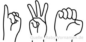 Iwe in Fingersprache für Gehörlose