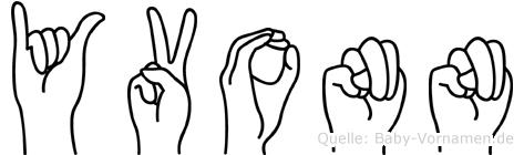 Yvonn in Fingersprache für Gehörlose