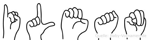 Ilean im Fingeralphabet der Deutschen Gebärdensprache