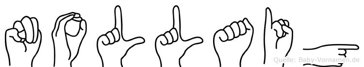 Nollaig im Fingeralphabet der Deutschen Gebärdensprache