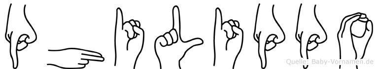 Philippo in Fingersprache für Gehörlose