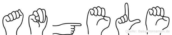 Angele im Fingeralphabet der Deutschen Gebärdensprache