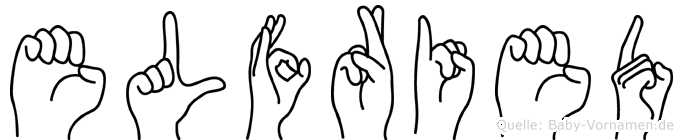 Elfried im Fingeralphabet der Deutschen Gebärdensprache