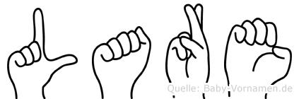 Lare im Fingeralphabet der Deutschen Gebärdensprache