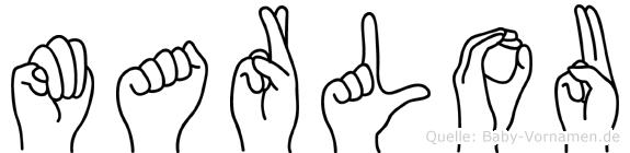 Marlou in Fingersprache für Gehörlose