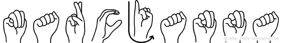 Marcjanna im Fingeralphabet der Deutschen Gebärdensprache