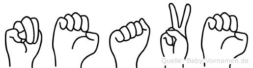Neave im Fingeralphabet der Deutschen Gebärdensprache