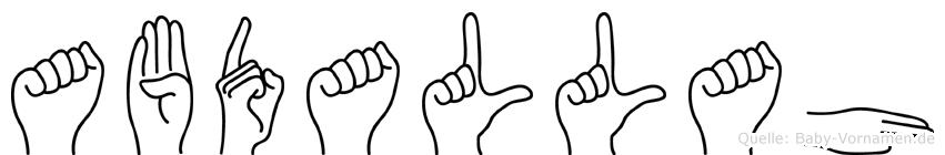 Abdallah in Fingersprache für Gehörlose