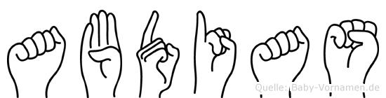 Abdias im Fingeralphabet der Deutschen Gebärdensprache