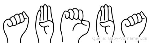 Abeba in Fingersprache für Gehörlose