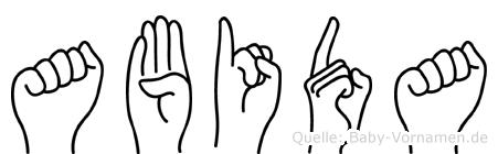 Abida in Fingersprache für Gehörlose