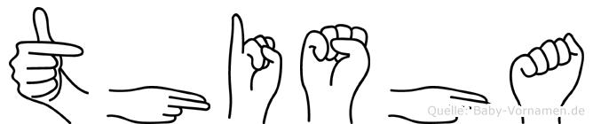 Thisha in Fingersprache für Gehörlose
