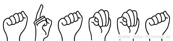 Adamma in Fingersprache für Gehörlose
