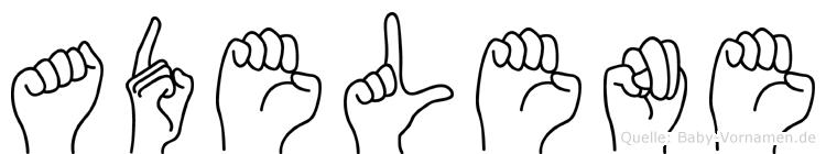 Adelene im Fingeralphabet der Deutschen Gebärdensprache