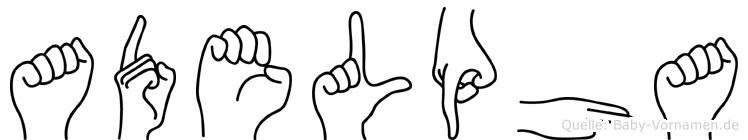 Adelpha im Fingeralphabet der Deutschen Gebärdensprache