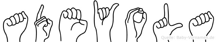 Adeyola im Fingeralphabet der Deutschen Gebärdensprache
