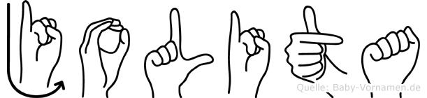 Jolita in Fingersprache für Gehörlose
