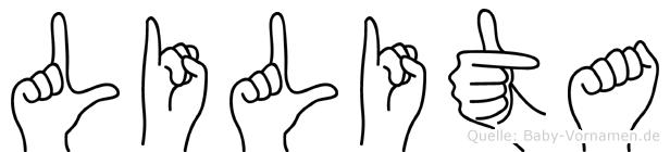 Lilita in Fingersprache für Gehörlose