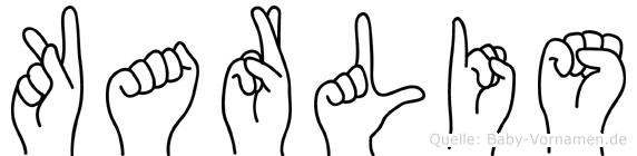 Karlis im Fingeralphabet der Deutschen Gebärdensprache