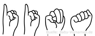 Iina im Fingeralphabet der Deutschen Gebärdensprache