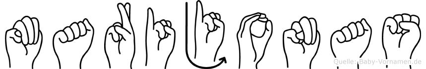 Marijonas in Fingersprache für Gehörlose