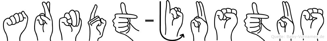 Arndt-Justus im Fingeralphabet der Deutschen Gebärdensprache