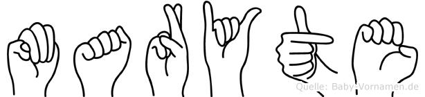 Maryte in Fingersprache für Gehörlose