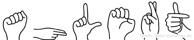 Ahlert in Fingersprache für Gehörlose