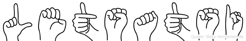 Letsatsi im Fingeralphabet der Deutschen Gebärdensprache