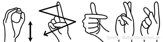 Öztürk im Fingeralphabet der Deutschen Gebärdensprache