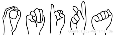 Onika in Fingersprache für Gehörlose