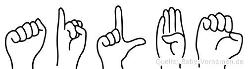 Ailbe in Fingersprache für Gehörlose