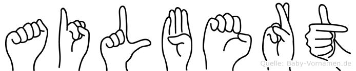 Ailbert in Fingersprache für Gehörlose