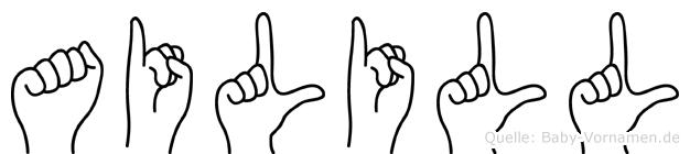 Ailill in Fingersprache für Gehörlose