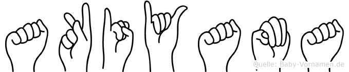 Akiyama im Fingeralphabet der Deutschen Gebärdensprache