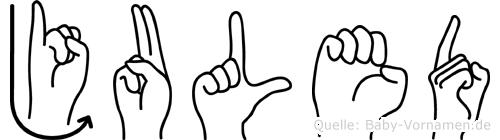 Juled in Fingersprache für Gehörlose