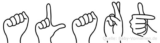Alart im Fingeralphabet der Deutschen Gebärdensprache