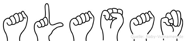 Alasan im Fingeralphabet der Deutschen Gebärdensprache