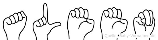 Aleen in Fingersprache für Gehörlose