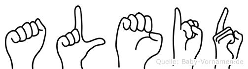 Aleid in Fingersprache für Gehörlose